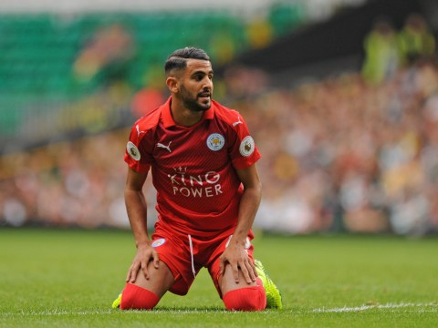 Riyad Mahrez wears Leicester City's new red kit and Arsenal fans can't help but dream