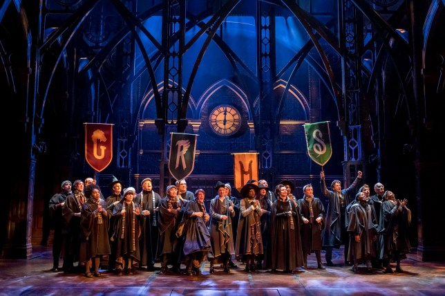 Undated handout photo issued by Premier of the cast in the new stage play Harry Potter And The Cursed Child. PRESS ASSOCIATION Photo. Issue date: Tuesday July 26, 2016. A follow-up to author JK Rowling's Harry Potter novels, the play follows the boy wizard's life 19 years after the events of the final book in the sequence, The Deathly Hallows. See PA story SHOWBIZ Potter. Photo credit should read: Manuel Harlan/PA Wire NOTE TO EDITORS: This handout photo may only be used in for editorial reporting purposes for the contemporaneous illustration of events, things or the people in the image or facts mentioned in the caption. Reuse of the picture may require further permission from the copyright holder.