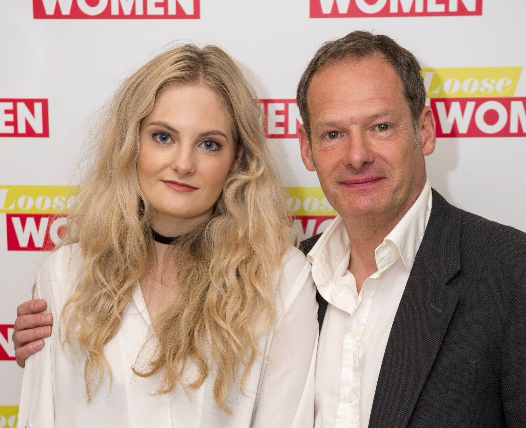 EDITORIAL USE ONLY. NO MERCHANDISING Mandatory Credit: Photo by Ken McKay/ITV/REX/Shutterstock (5790012b) Harriet Lester and Mark Lester 'Loose Women' TV show, London, UK - 26 Jul 2016