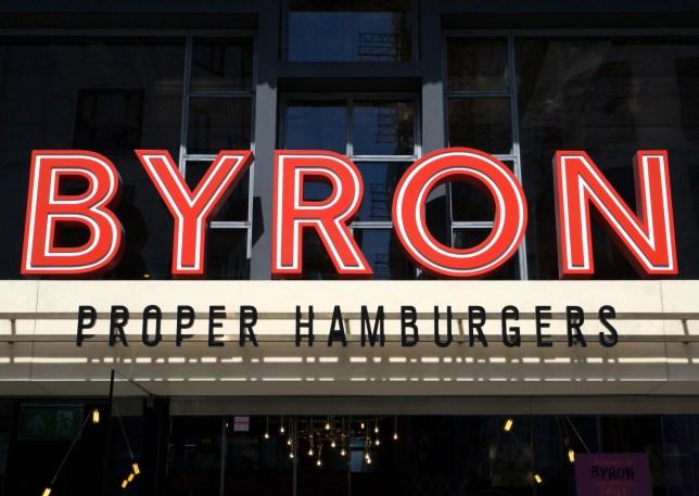 ER3NE4 Branch of Byron hamburger restaurants, London