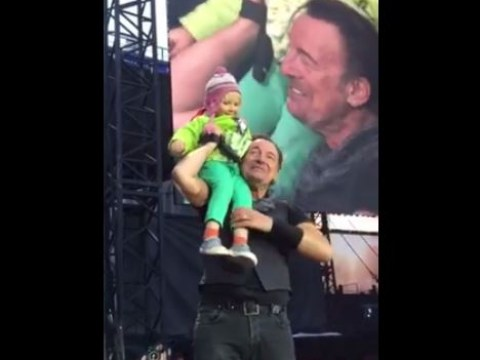 Bruce Springsteen invites 4-year-old fan onstage but doesn't expect this adorable duet
