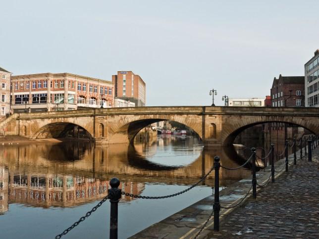 Search for man seen falling off bridge