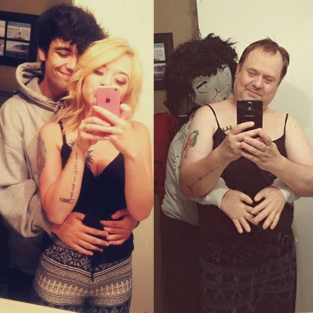 Hilarious dad continues to mock daughter's selfies, but this one tops them all