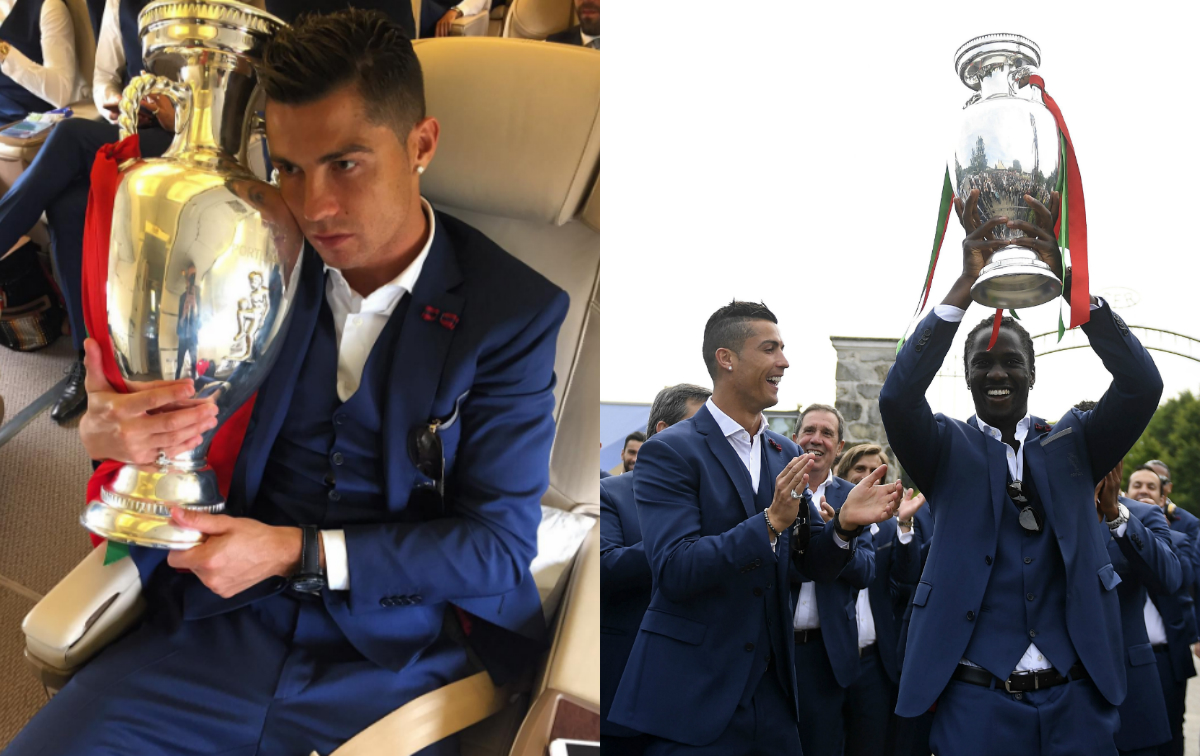 Pictured: Champions Portugal jet home after Euro 2016 glory