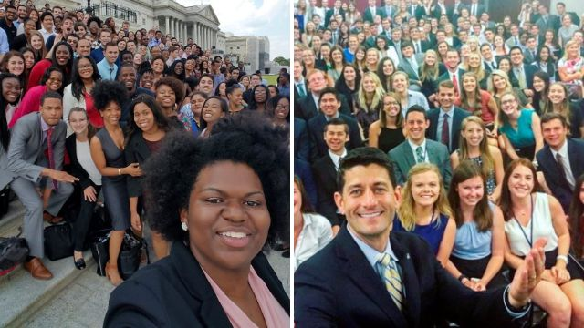 Democrats' answer to Paul Ryan's intern selfie looks totally different