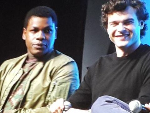 John Boyega gives young Han Solo Alden Ehrenreich his approval: 'He's got that smile like Han!'