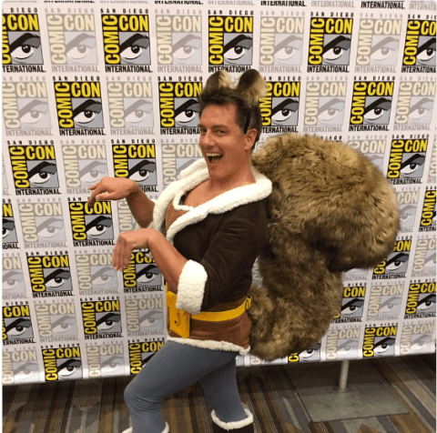 Sexy Kylo Ren, Futurama's Zapp Brannigan, Harley Quinn and Squirrel Girl – John Barrowman's cosplay wins San Diego Comic Con