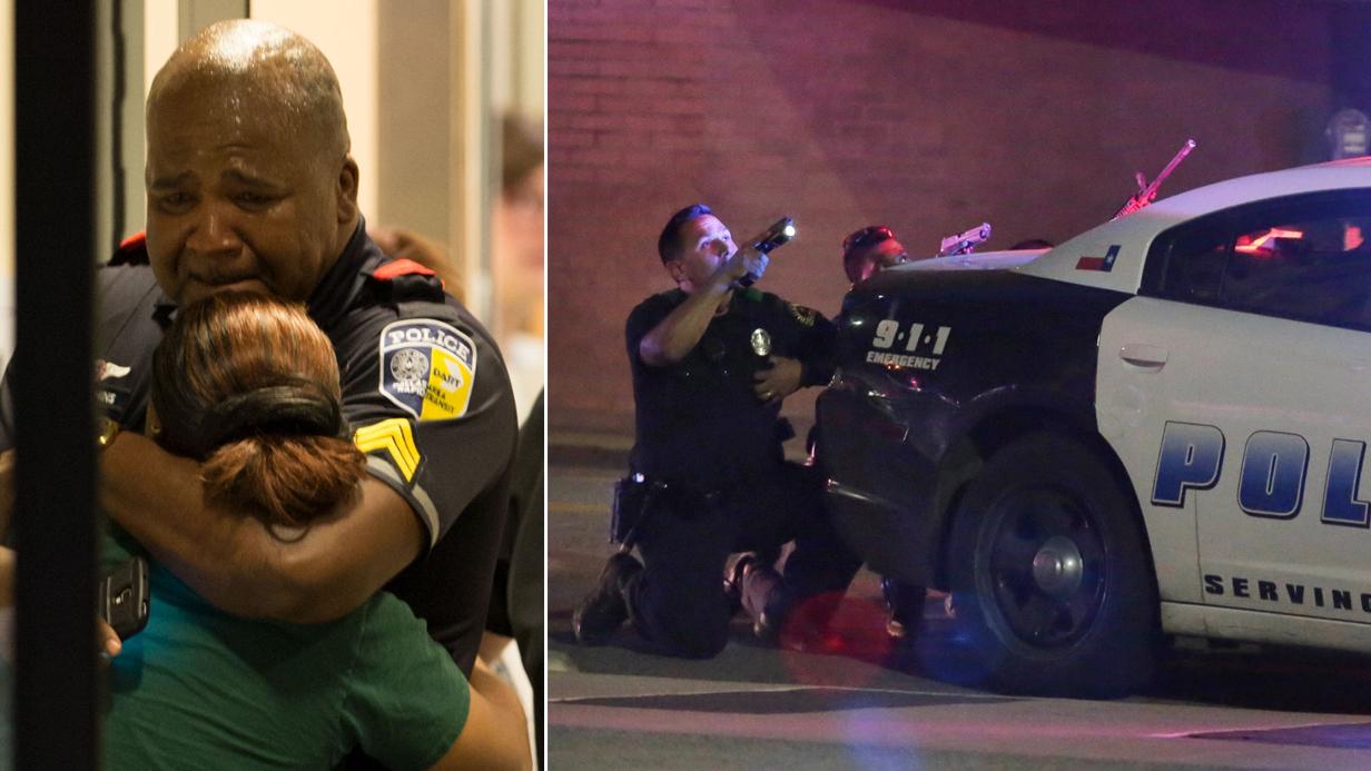 Dallas police shooting: Man live-streams gun battle on Facebook