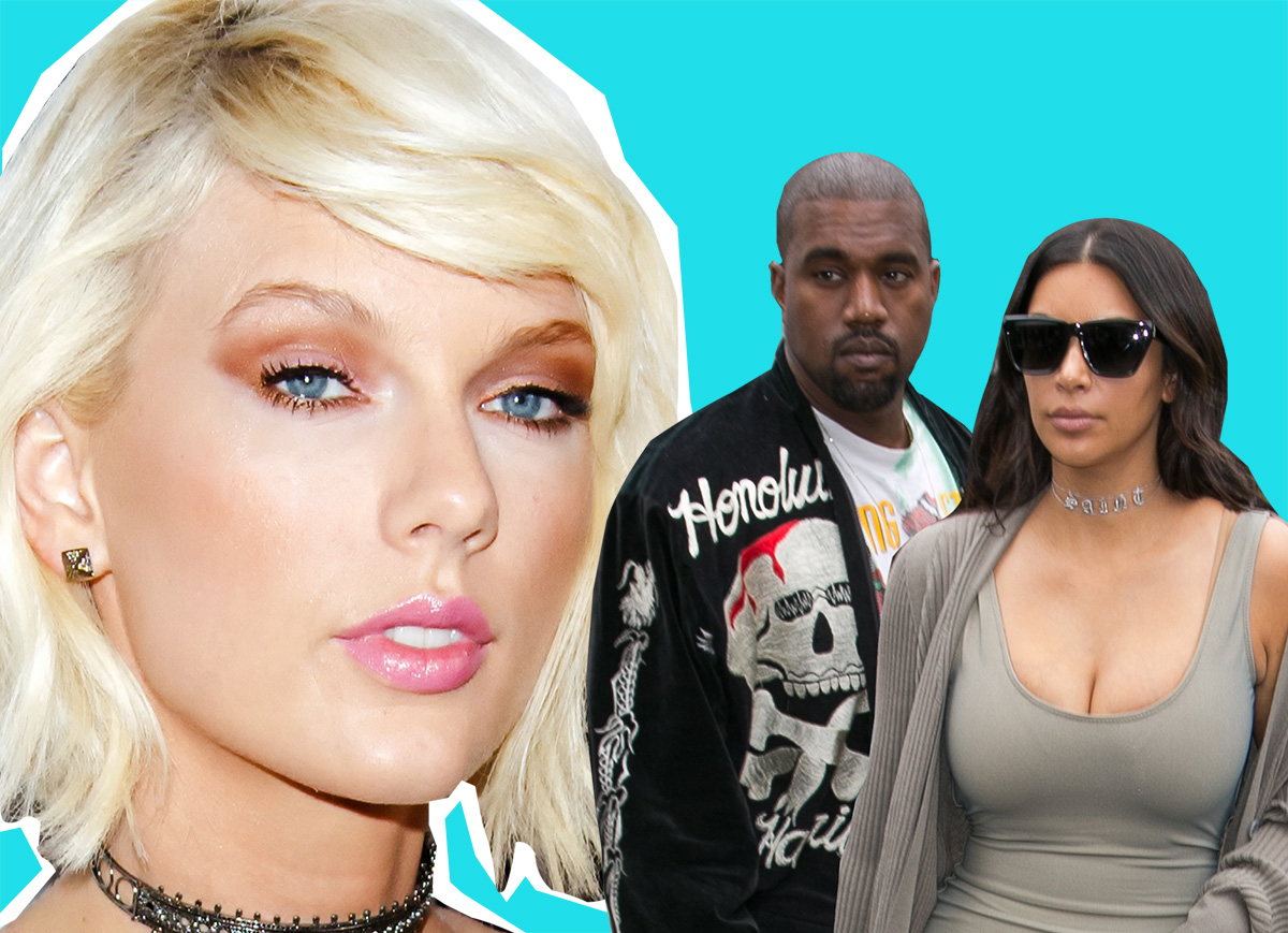 Taylor, Kanye and Kim, are in the middle of the biggest celeb beef of all time (Picture: GC Images/Metro)