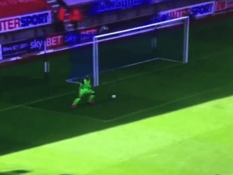 Liverpool's new goalkeeper Loris Karius nearly suffers horrendous howler