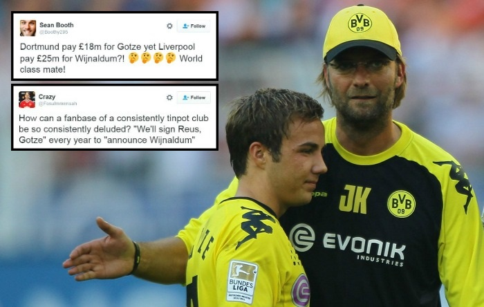 Manchester United fans troll Liverpool for missing out on Mario Gotze and getting Georginio Wijnaldum
