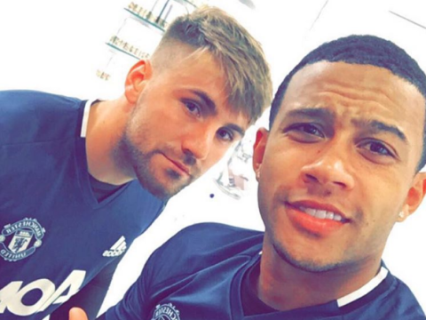 Memphis Depay revives bromance with Luke Shaw as pair link-up for pre-season