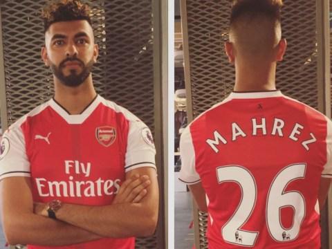 Arsenal fan so confident of Riyad Mahrez deal he's already got his No. 26 shirt