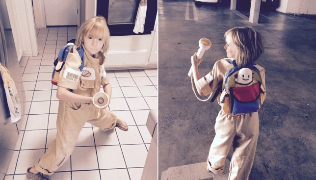 Little girl's Ghostbusters costume is the cutest thing ever Picture: Twitter/@MadMaxB3