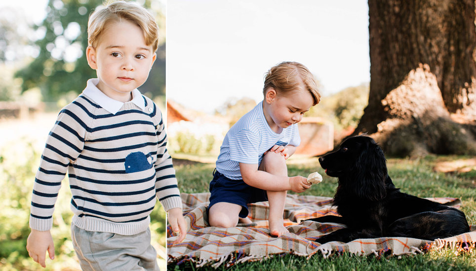 Prince George's third birthday Picture; PA