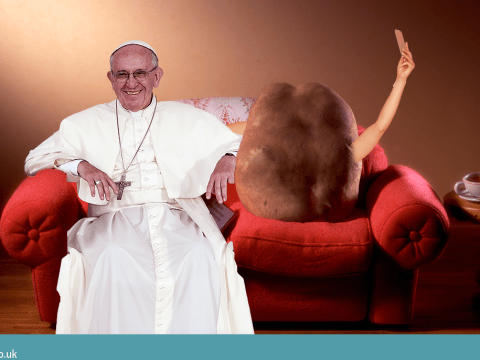 The Pope urges young people not to be couch potatoes