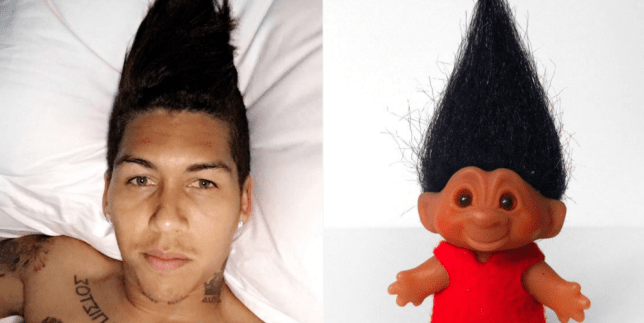 Firmino was quickly mocked (Picture: Twitter)