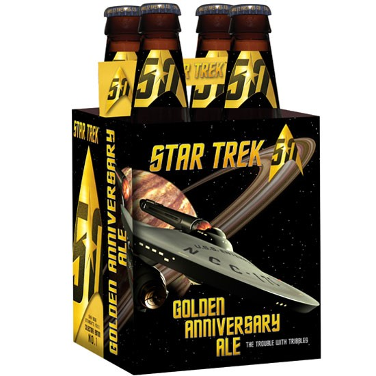 Drink me up Scotty, it's the Star Trek Golden Anniversary beer