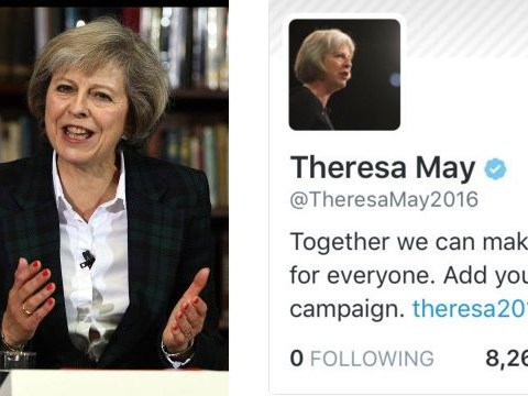 Born leader? Theresa May follows no-one on Twitter