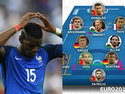 Joe Allen officially better than Paul Pogba according to Uefa's Euro 2016 Team of the Tournament