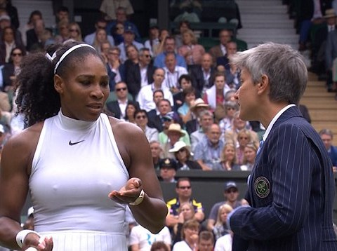 Serena Williams threatens to sue as umpire wants play to continue at Wimbledon despite light rain