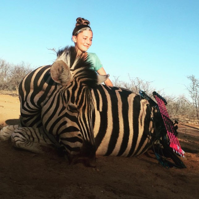 Girl, 12, posts photo of dead giraffe from hunting trip Credit ARYANNA GOURDIN FACEBOOK