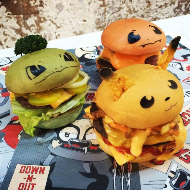 Pokéburgers are here Picture: Instagram/downnout_ REF: https://www.instagram.com/p/BJZFIv-jFjP/