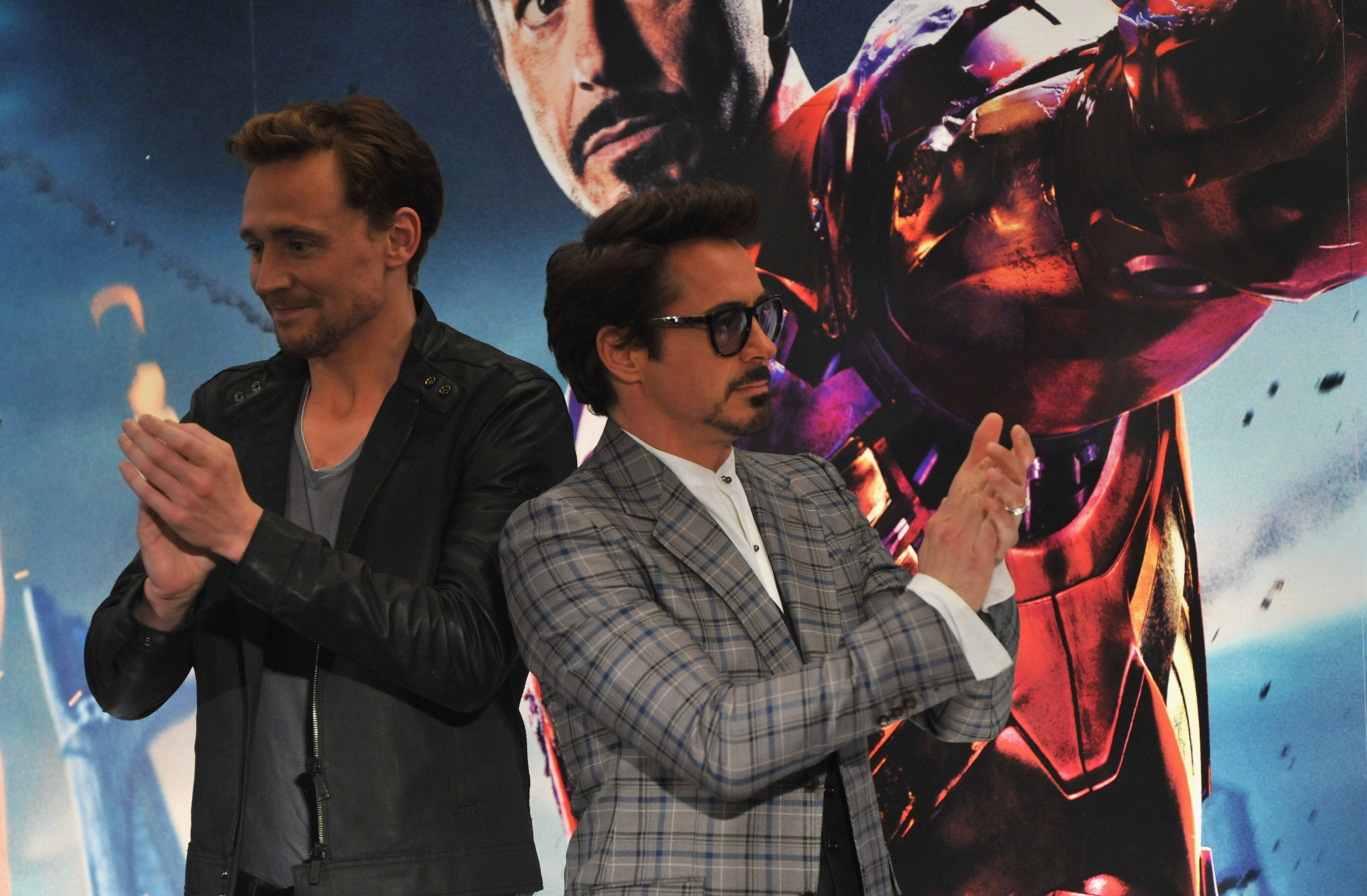 Robert Downey Jr welcomes Tom Hiddleston to Instagram by taking the mick out of THAT Taylor Swift T-shirt