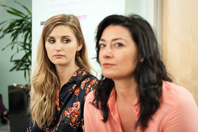 FROM ITV STRICT EMBARGO - NO USE BEFORE TUESDAY 16 AUGUST 2016 Emmerdale - Ep 7599 Friday 26 August 2016 At the HIV clinic, Moira Dingle NATALIE J ROBB learns Holly Barton's SOPHIE POWLES missing her interview and tries to make her go. Will Moira be in the clear? And will Holly make her interview or will her past come back to haunt her? Picture contact: david.crook@itv.com on 0161 952 6214 Photographer - Andrew Boyce This photograph is (C) ITV Plc and can only be reproduced for editorial purposes directly in connection with the programme or event mentioned above, or ITV plc. Once made available by ITV plc Picture Desk, this photograph can be reproduced once only up until the transmission TX date and no reproduction fee will be charged. Any subsequent usage may incur a fee. This photograph must not be manipulated excluding basic cropping in a manner which alters the visual appearance of the person photographed deemed detrimental or inappropriate by ITV plc Picture Desk. This photograph must not be syndicated to any other company, publication or website, or permanently archived, without the express written permission of ITV Plc Picture Desk. Full Terms and conditions are available on the website www.itvpictures.com