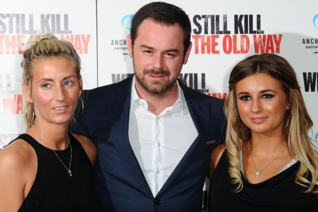 "LONDON, ENGLAND - SEPTEMBER 29: Joanne Mas, Danny Dyer and Dani Dyer attend a photocall for ""We Still Kill The Old Way"" at Ham Yard Hotel on September 29, 2014 in London, England. (Photo by Stuart C. Wilson/Getty Images)"