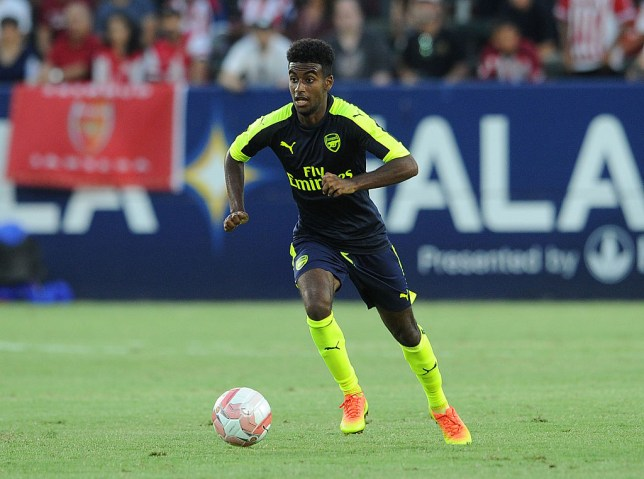 CARSON, CA - JULY 31:  Gedion Zelalem of Arsenal during the match between Arsenal and CD Guadalajara at StubHub Center on July 31, 2016 in Carson, California.  (Photo by David Price/Arsenal FC via Getty Images)