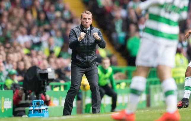 GLASGOW, SCOTLAND - AUGUST 03: Brendan Rodgers Manager of Celtic reacts during the UEFA Champions League, Third Round, Second Leg between Celtic and Astana at Celtic Park on AUGUST 3, 2016 in Glasgow, Scotland. (Photo by Steve Welsh/Getty Images)