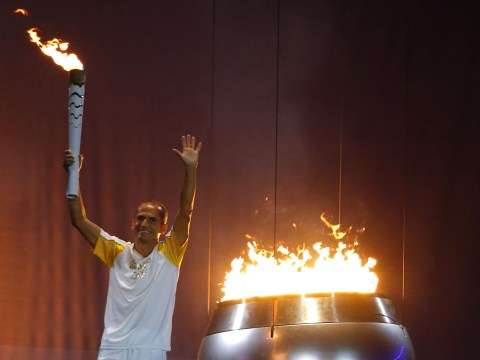 Brazilian marathon runner Vanderlei de Lima is tasked with lighting the cauldron at the 2016 Rio Olympics