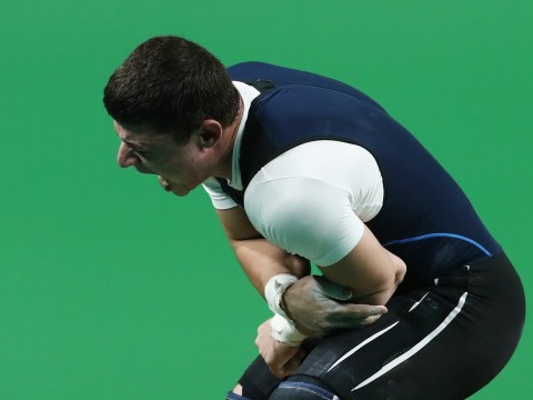 Armenian weightlifter's arm snaps during Rio Olympic Games