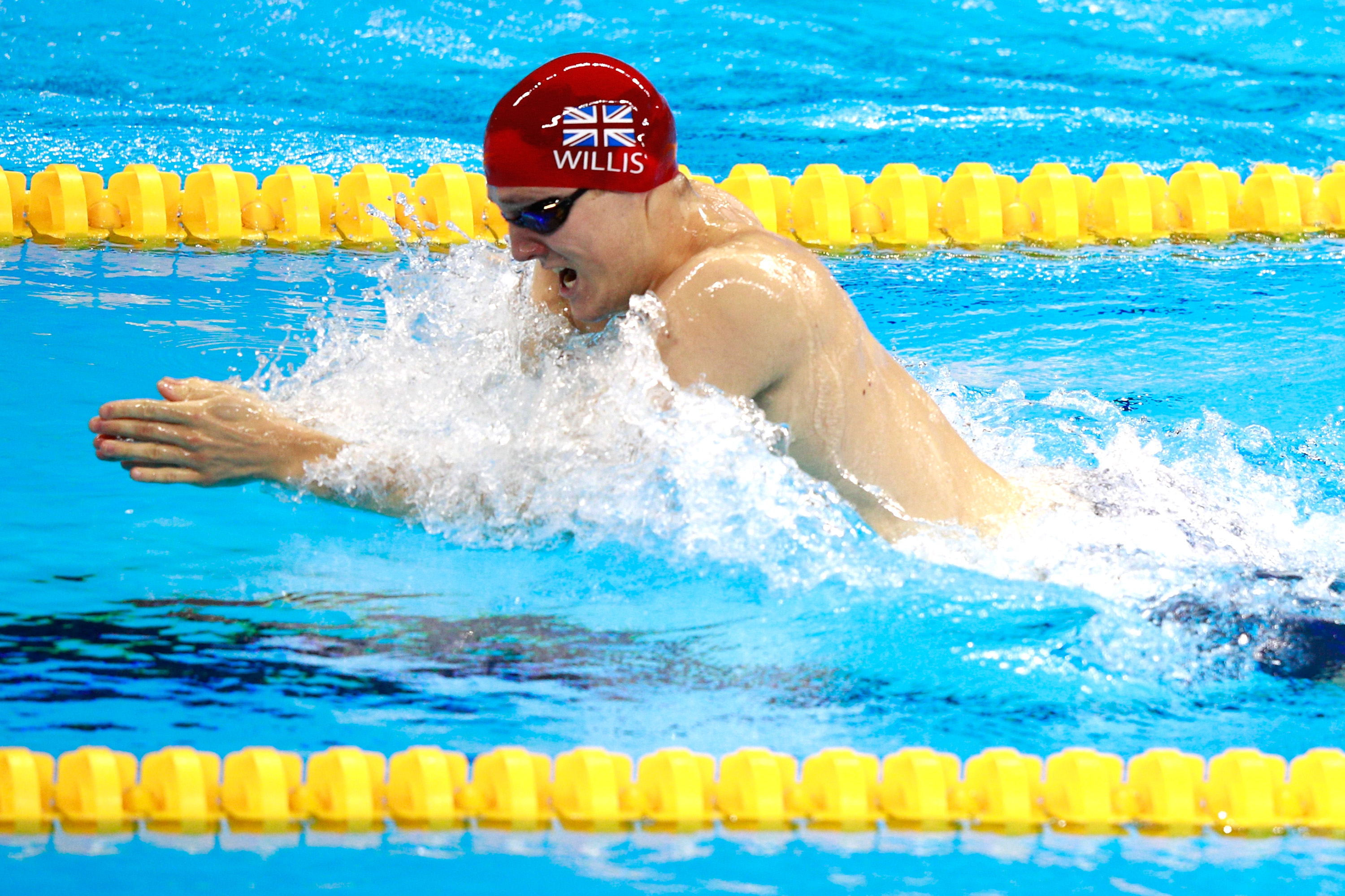 Andrew Willis narrowly misses out on bronze in men's 200m breaststroke in Olympic Games