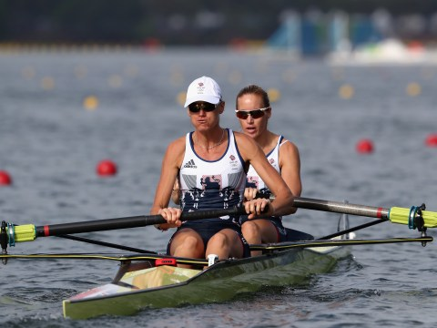 Helen Glover and Heather Stanning succesfully defend Olympic rowing title with gold in women's pair