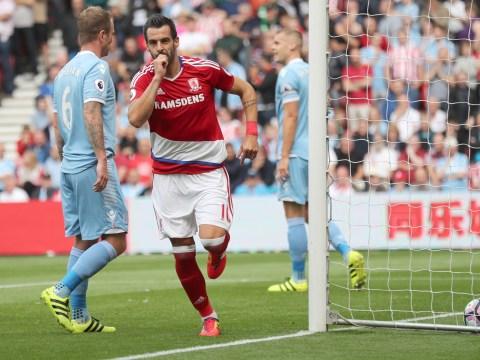 Middlesbrough's Alvaro Negredo keeps up impressive strike record when netting against Stoke City