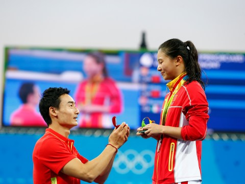 Chinese diver He Zi proposed to by boyfriend moments after being awarded Olympic silver medal