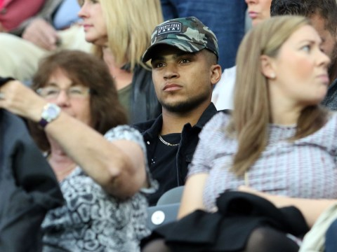 Snapped: Tottenham Hotspur defender DeAndre Yedlin watches Newcastle's EFL Cup clash v Cheltenham Town ahead of move