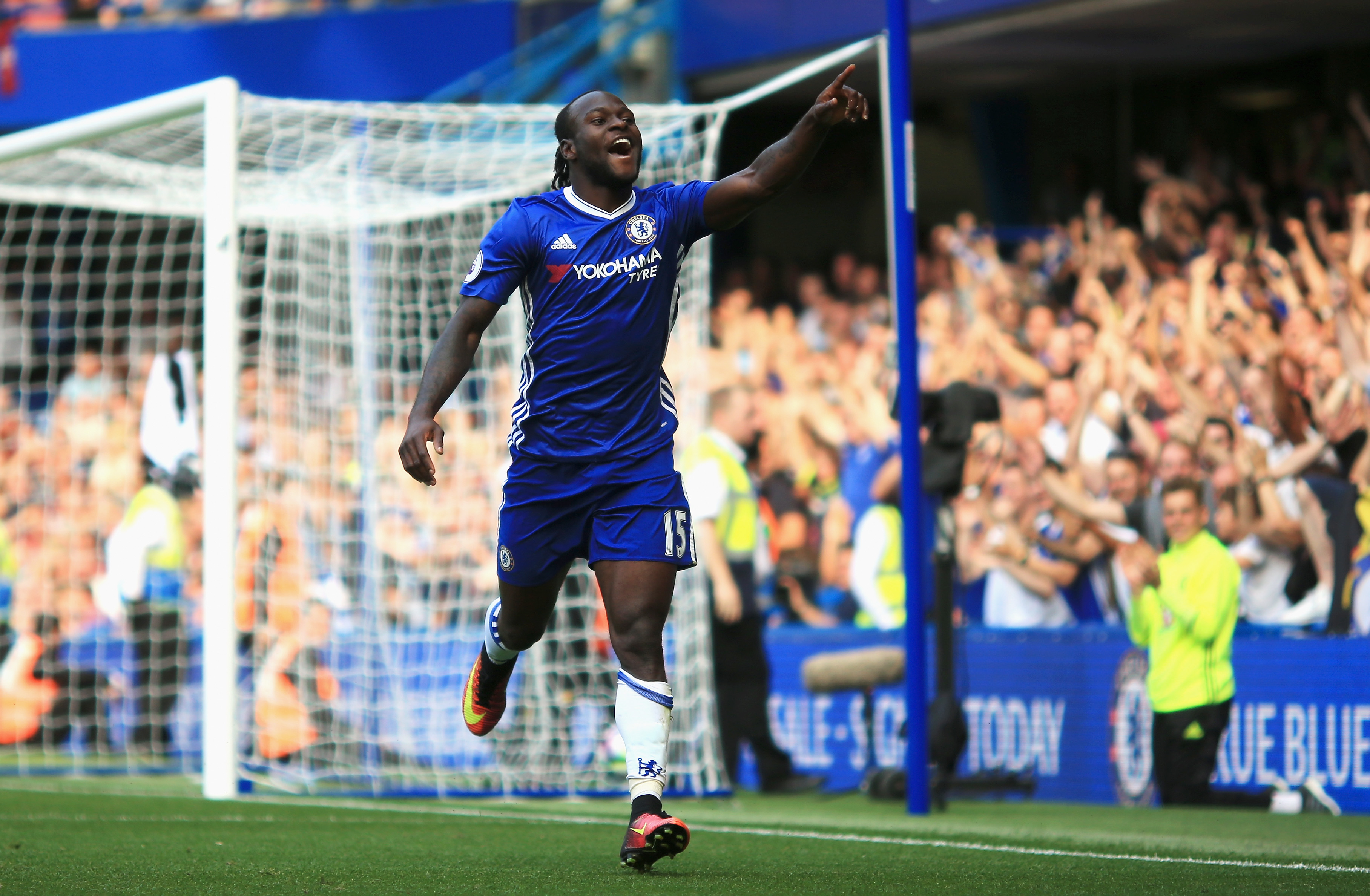 Victor Moses scores his first Premier League goal for Chelsea four years and three clubs after his first
