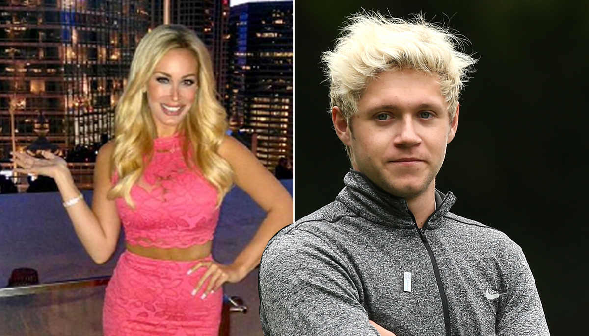 Has Niall finally found love? Niall Horan in Chicago with waitress Jenni Burns Credit: REX/Twitter/Jenni_Burns