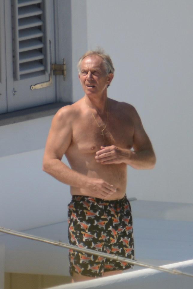 Tony Blair catches some sun (Picture: Beescoop)