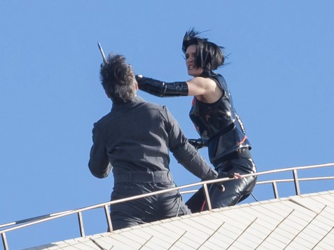 Jackie Chan films daring stunt ON TOP of Sydney Opera House for Bleeding Steel