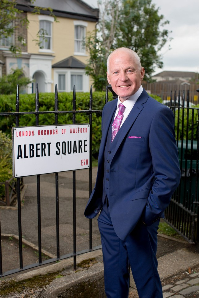 EMBARGOED TO 0001 THURSDAY AUGUST 25 For use in UK, Ireland or Benelux countries only Undated BBC handout photo of Lord Michael Cashman who will briefly reprise his role as Colin Russell in the BBC1 soap, EastEnders. PRESS ASSOCIATION Photo. Issue date: Thursday August 25, 2016. The 65-year-old appeared on the soap for three years from 1986 and generated headlines when his character had the first gay kiss in a British soap opera with boyfriend Barry Clark, played by Gary Hailes. See PA story SHOWBIZ Eastenders. Photo credit should read: BBC/PA Wire NOTE TO EDITORS: Not for use more than 21 days after issue. You may use this picture without charge only for the purpose of publicising or reporting on current BBC programming, personnel or other BBC output or activity within 21 days of issue. Any use after that time MUST be cleared through BBC Picture Publicity. Please credit the image to the BBC and any named photographer or independent programme maker, as described in the caption.