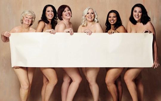 Women strip naked for an inspirational Weight Watchers