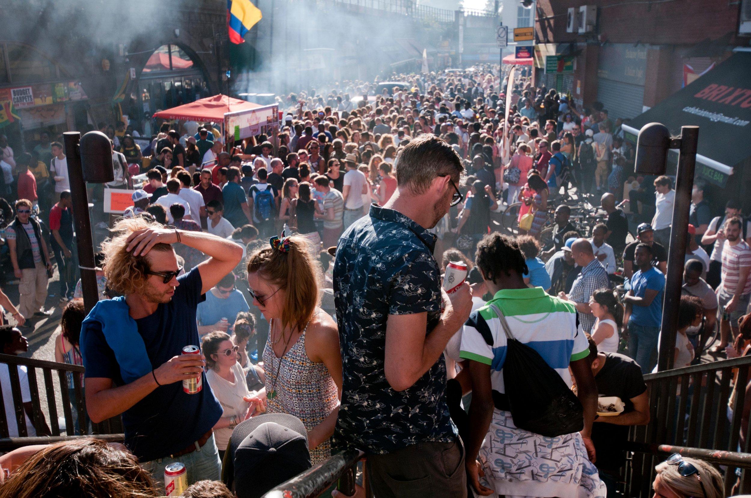 Brixton Splash cancelled 2016 Credit Alamy F0F41K People celebrating at annual Brixton Big Splash festival