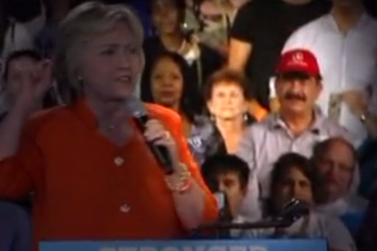 The Orlando shooter's dad popped up at a Hillary rally