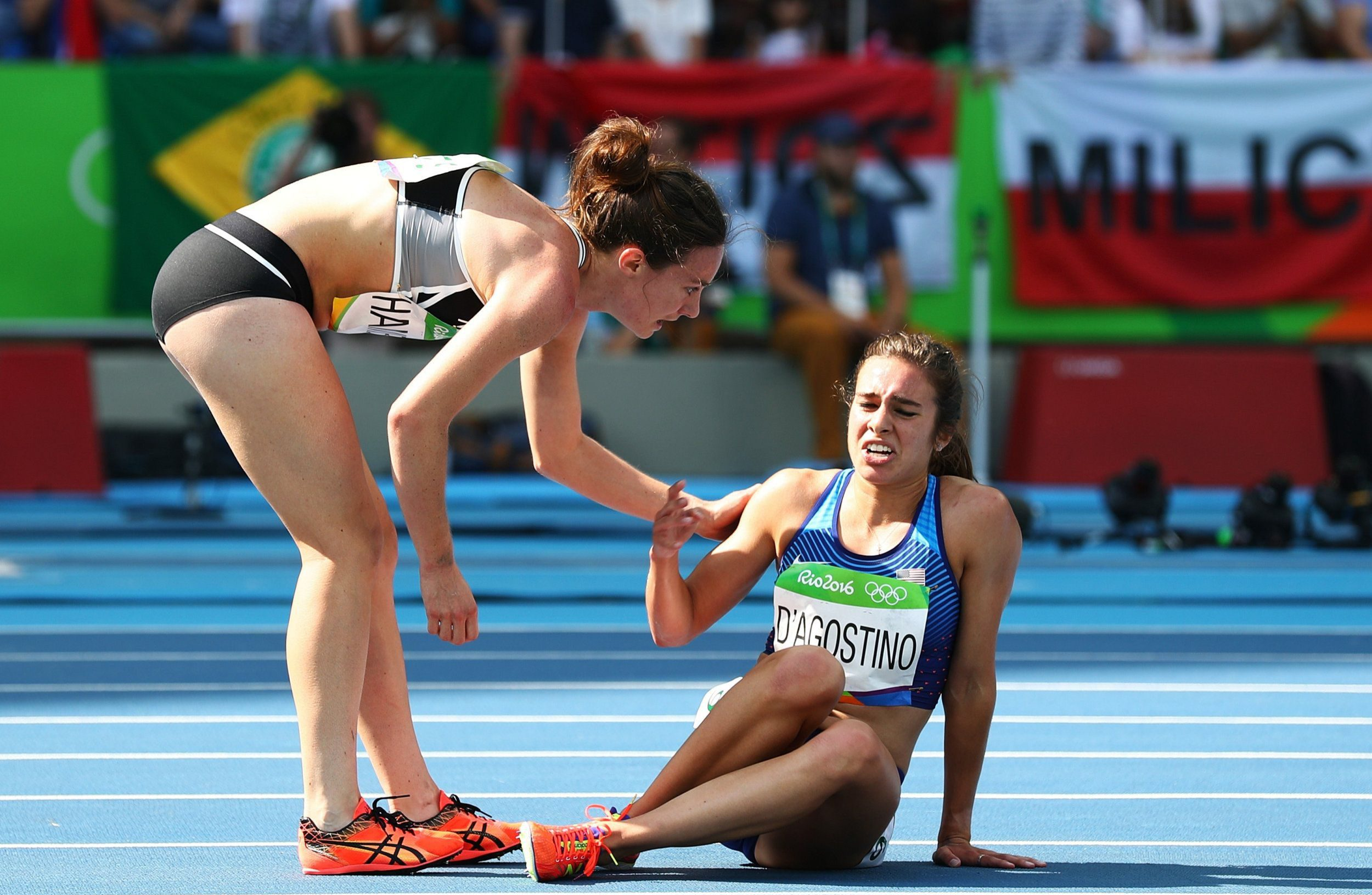 Olympics' most inspirational moment so far sees 5,000m runner help injured rival