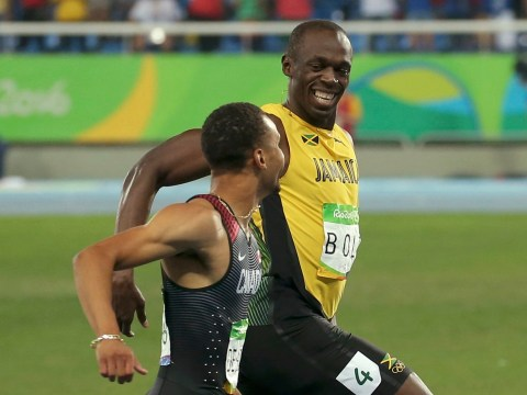 Everyone needs someone who looks at them the way Usain Bolt looks at Andre De Grasse