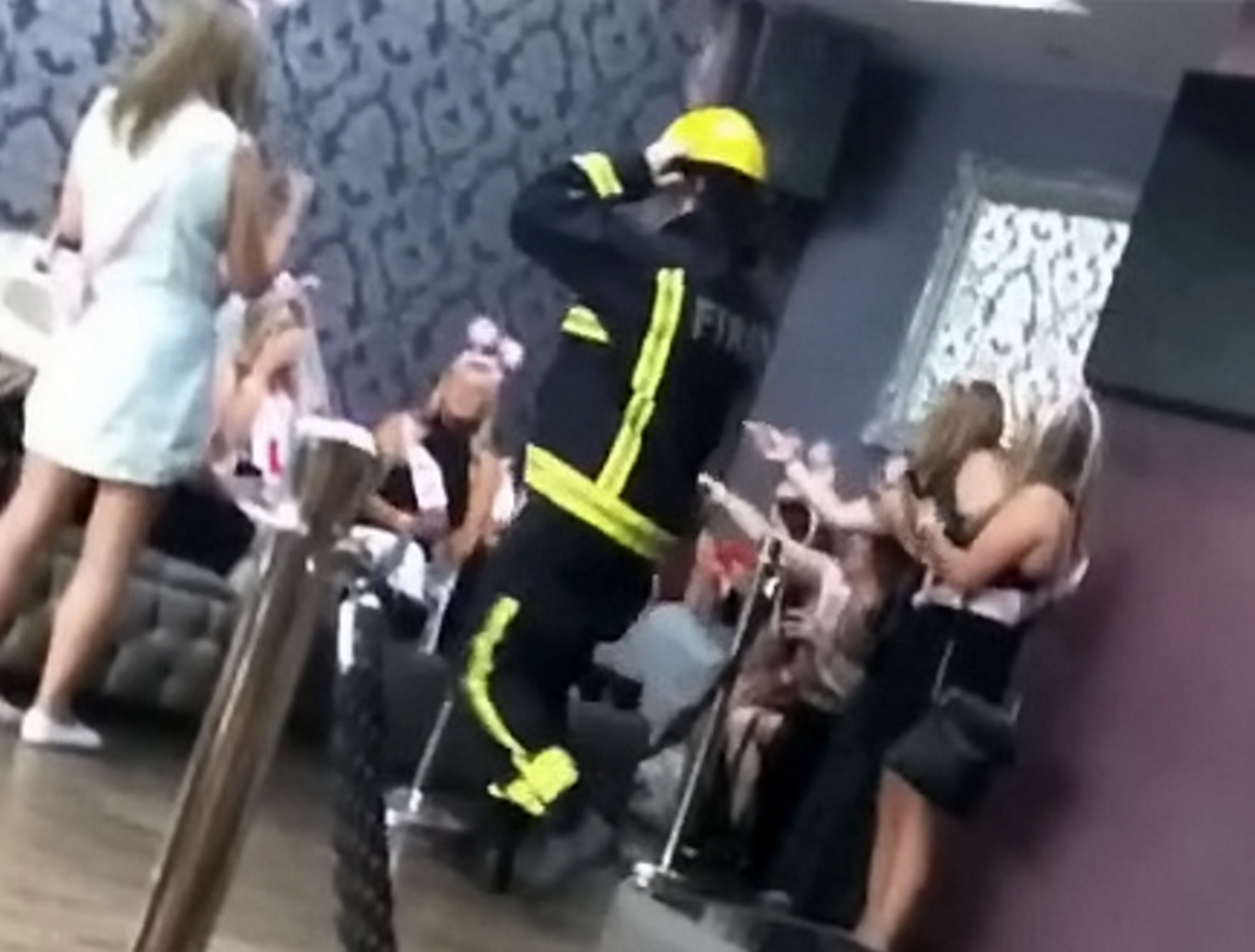 Stripper turns up to hen party at cafe where children are eating